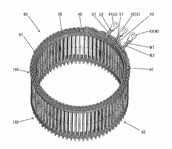 Stator of rotary electric machine and rotary electric machine equipped with the same