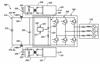 Apparatus for discharging a high-voltage bus