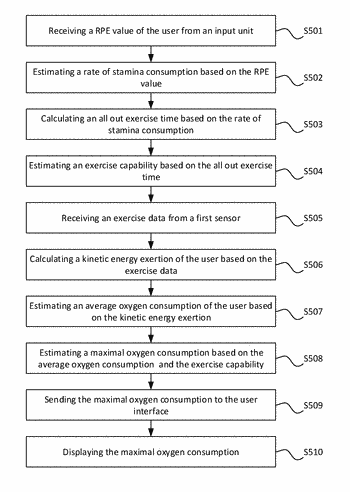Method and device for real-time monitoring maximal oxygen consumption