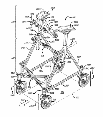 Upright walker having a user safety system employing haptic feedback