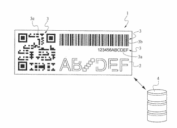 A process for manufacturing a woven label, containing a unique information, electronically readable
