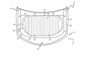 Vehicle hood assemblies including a hood reinforcement strap with lobe structures and vehicles including the ...