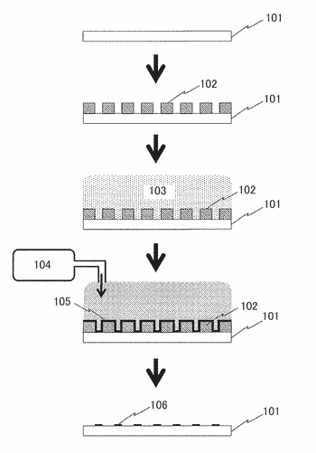 Spot array substrate, method for producing same, and nucleic acid polymer analysis method and device