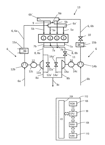 Exhaust-gas-turbocharged internal combustion engine with partial deactivation