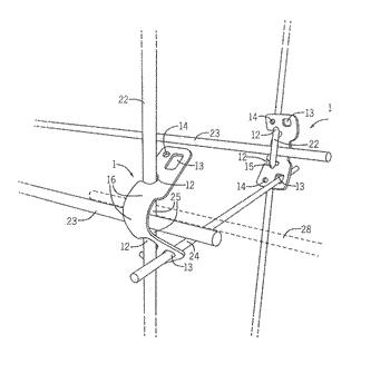 Spring clamp for construction of plant cages and trellises