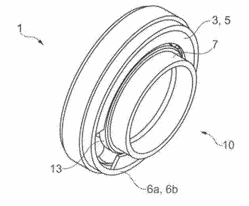 Rolling bearing comprising an electric circuit, and method for producing an electric circuit for a ...