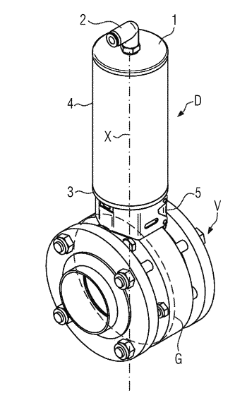 Rotary actuator, and beverage filling system