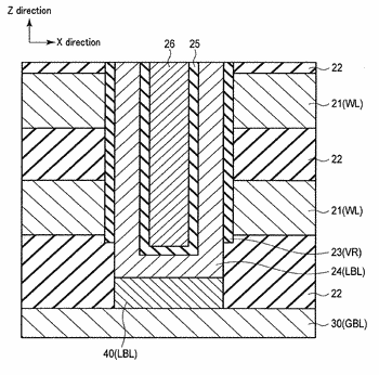 Semiconductor memory device having local bit line with insulation layer formed therein