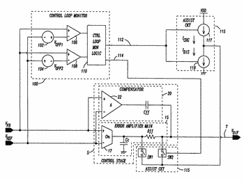 Type iii switching converter error amplifier with fast transient response behavior