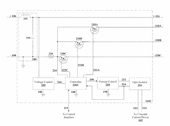 Method and apparatus for controlling a lighting module based on a constant current level from ...