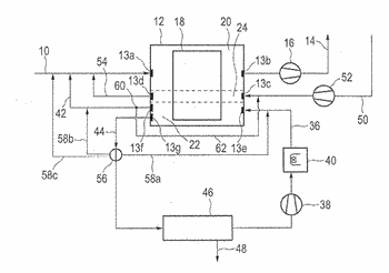 Method and regenerative separating apparatus for separating contaminants from process exhaust air