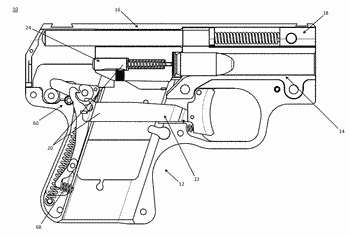 Semi-automatic firearm trigger mechanism and safety device