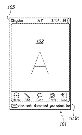 Notifying a user of events in a computing device
