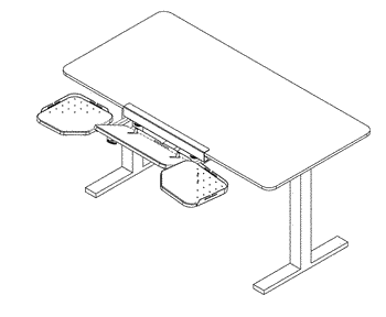 Ergonomic keyboard and peripheral positioning system