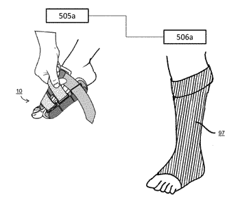 Compression garment for neurological and circulatory disorders