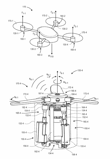 Selectively thrusting propulsion units for aerial vehicles