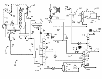 Process and apparatus for hydrotreating fractionated overhead naphtha