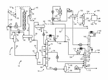 Process and apparatus for hydrotreating stripped overhead naphtha