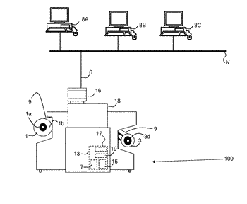 Method for two-sided printing of digital images from a roll in a roll-to-roll printing system