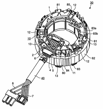 Stator for electric motor, electric motor, and air conditioner