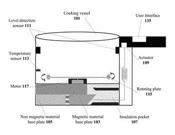 Cooking vessel for an induction cooktop