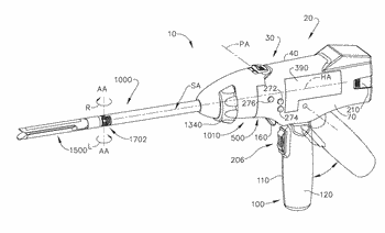 Interchangeable surgical tool assembly with a surgical end effector that is selectively rotatable about a ...