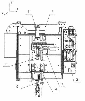 Machine for forming and profiling a metal tubular product, like a pipe