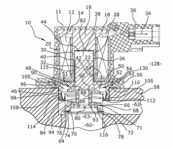 Overrun air recirculation valve for a compressor of an internal combustion engine
