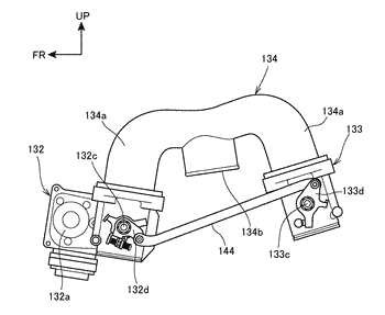 Internal combustion engine with supercharger for saddle-ride type vehicle