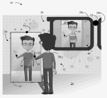 Augmented reality in a field of view including a reflection