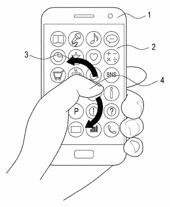User interface through rear surface touchpad of mobile device