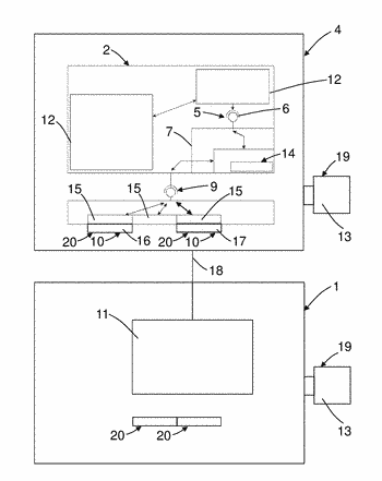 Display and operating unit and method of operating a field instrument having a display and ...