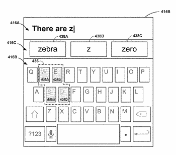 Dynamic key mapping of a graphical keyboard