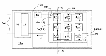 Lighting apparatuses and led modules for both illumination and optical communication