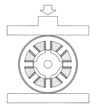 Unsaturated polyester resin composition and switched reluctance motor