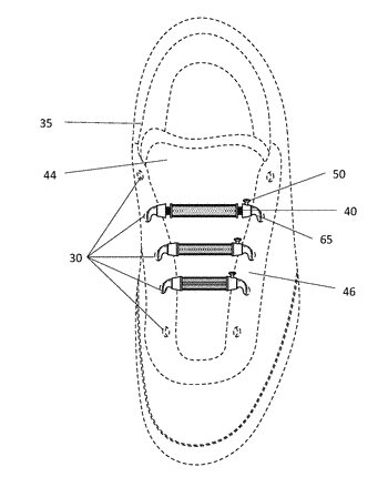 Shoe fastening device and method