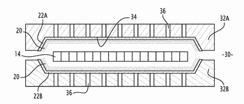 Method for producing a composite part made from aqueous resin and composite part coming from ...