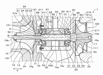 Bearing structure of turbocharger