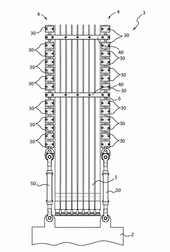 Support and guiding apparatus for feeder lines for excavation devices