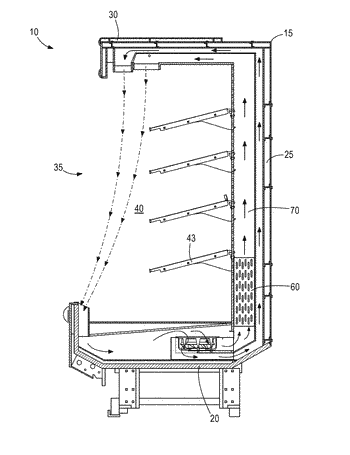 Refrigeration system with fluid defrost