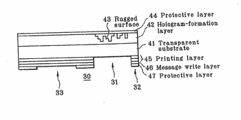 Holographic viewing device, and holographic viewing card incorporating it