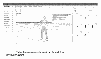Interactive mobile technology for guidance and monitoring of physical therapy exercises