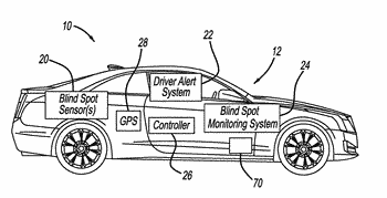 Methods and systems for blind spot monitoring with dynamic detection range
