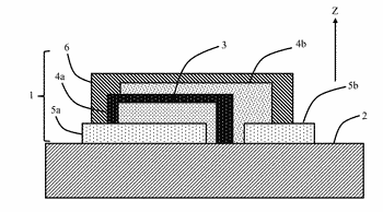 Electrochemical device, such as a microbattery, and fabrication method thereof