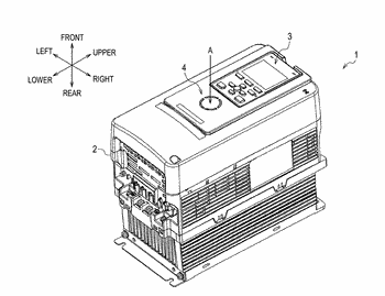 State display device of industrial machinery and power conversion device