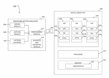 Methods, systems, and computer readable media for emulating network traffic patterns on a virtual machine