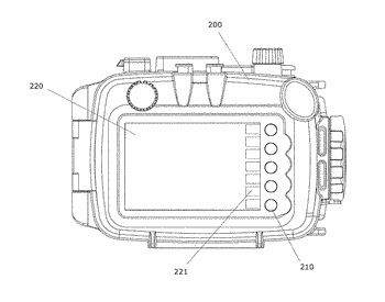 Actuating mechanism and waterproof case comprising the same