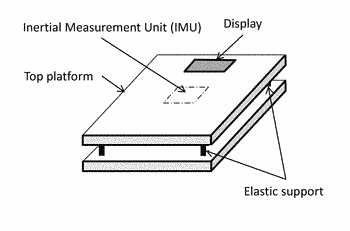 Combined device that measures the body weight and balance index
