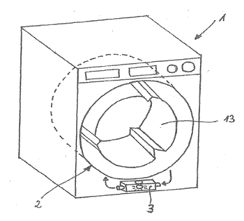 Method of washing textiles in a washing machine with activating unit