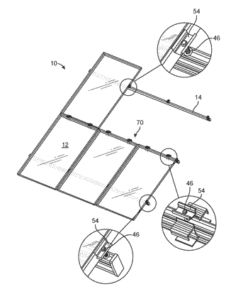 Racking system for installing solar panels